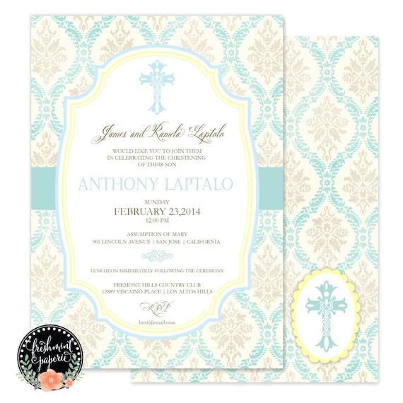 Baptism invitations - baptism invitation - christening Invitation - cross invitation - religious invitation -  baptism - cross invite - 110