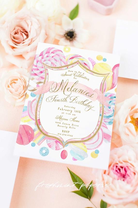Candy Land invitation - Candy Birthday Invitation - Candy Land Invitation - Sweets Party invite - Sweet Celebration - Sweet Invitation