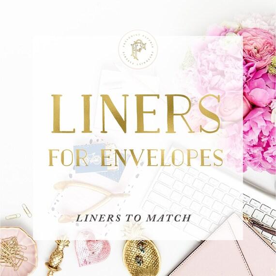 Envelope Liners match invitation design | Envelope Liners