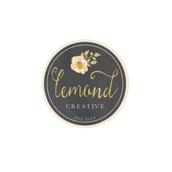 Custom pre-made logo -  logo design  - calligraphy logo - gold logo - freshmint paperie