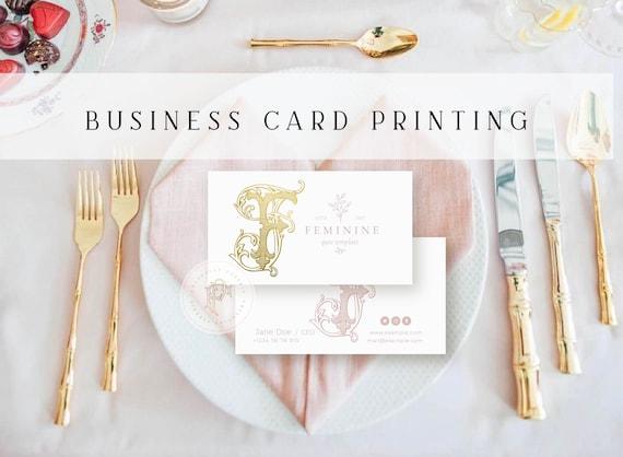Business card printing - Gold foil - letterpress - 130lb. cover - gold foil business cards - Business branding - Custom cards