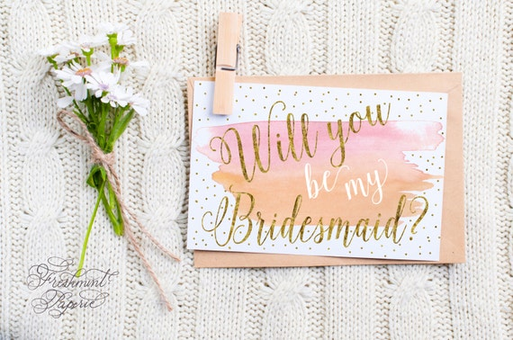 Instant download -  bridesmaid card - maid of honor card - will you be my bridesmaid - freshmint paperie