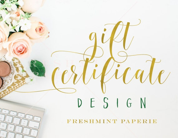 add business gift certificate design - gift certificate design - freshmint paperie