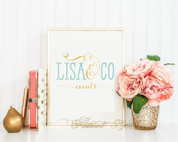 Custom logo - calligraphy logo - business logo - business card - freshmint paperie