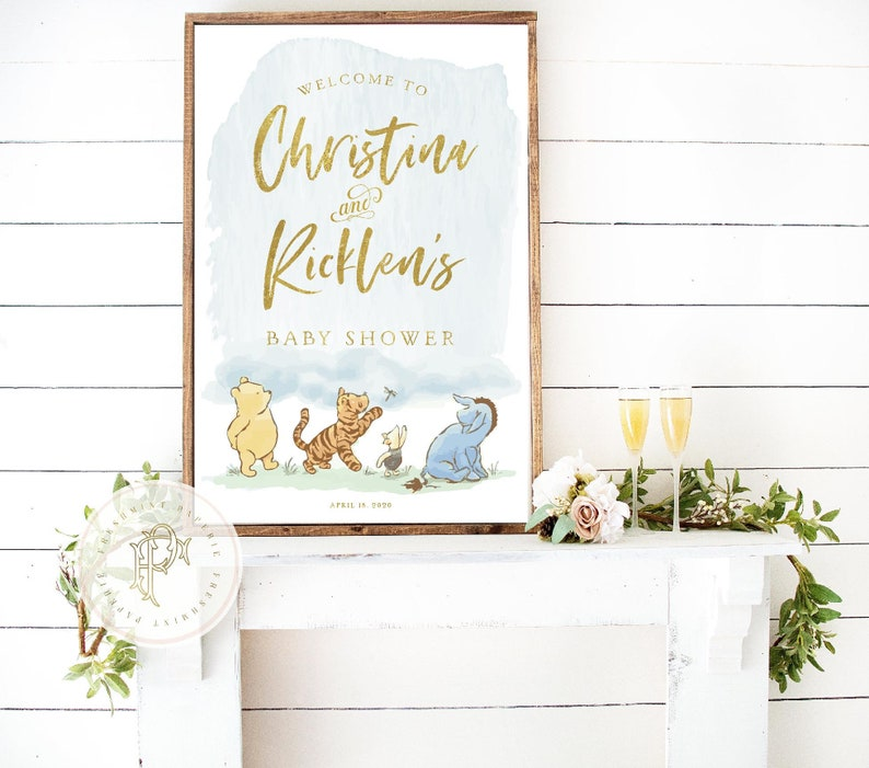 custom printable sign  to match any invitation  freshmint image 0