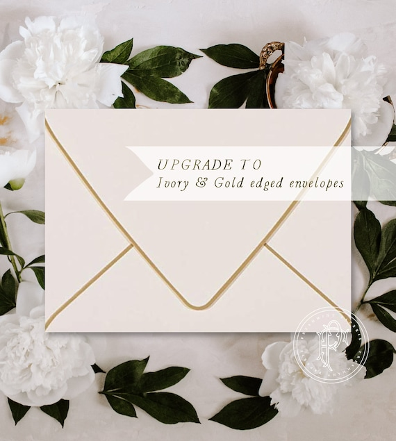 Ivory with Gold edged envelopes - Professional printing service - Ivory / gold ENVELOPES - freshmint paperie