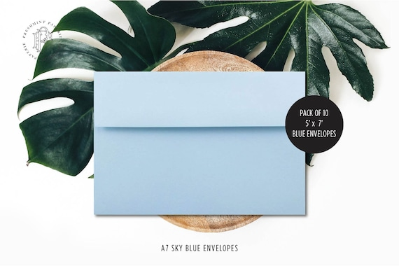 BLUE envelopes, add on to any print order - Freshmint paperie