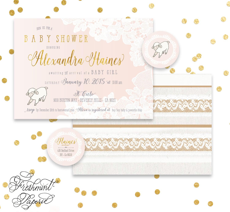 Printable invitations - lamb baby shower invitation - sheep ...