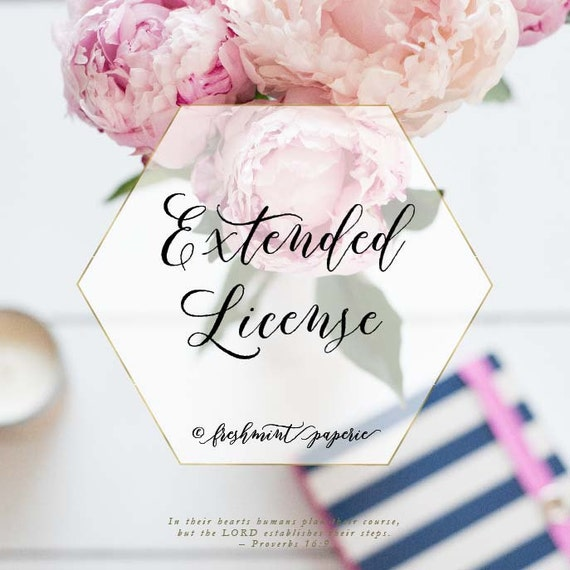 extended license - freshmint paperie