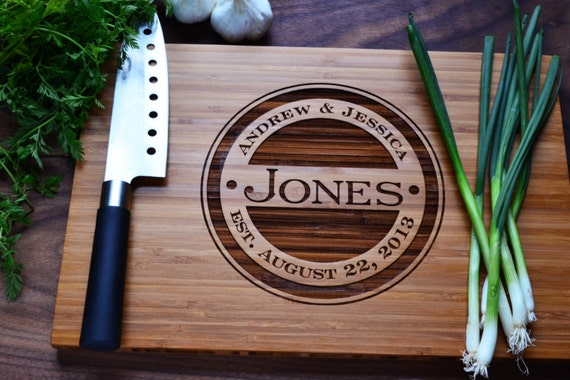 Personalized Cutting Board Engraved Bamboo Wood Etsy