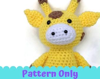 Dotti the Giraffe PDF Pattern Crochet Tutorial Only