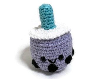 Crochet Boba Tea Amigurumi Plush - Bubble Tea Plush