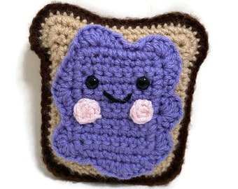 Handmade Crochet Amigurumi Jelly Toast Crochet Food Plush