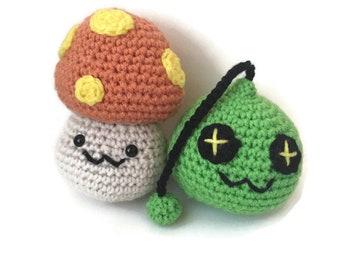 Handmade Crochet Maplestory Amigurumi Plushies - Maplestory Plush - Maplestory Mushroom and Slime Plush - Maplestory2
