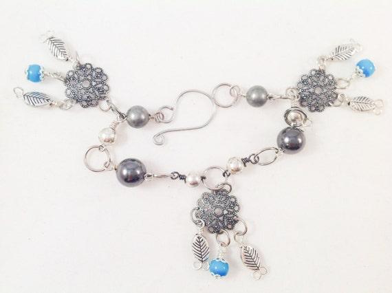 Handmade Dream Catcher Charm Bracelet with Metal Beads and Etsy Stunning Dream Catcher Charm Bracelet