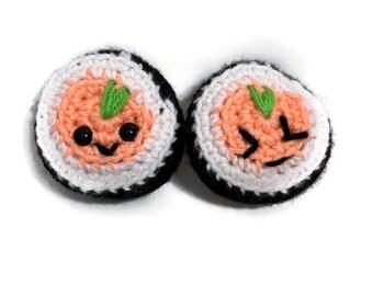 Handmade Crochet Amigurumi Sushi Roll Play Food Plush