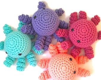 Handmade Crochet Amigurumi Octopus- Octopus Plush- Amigurumi Octopus Toy