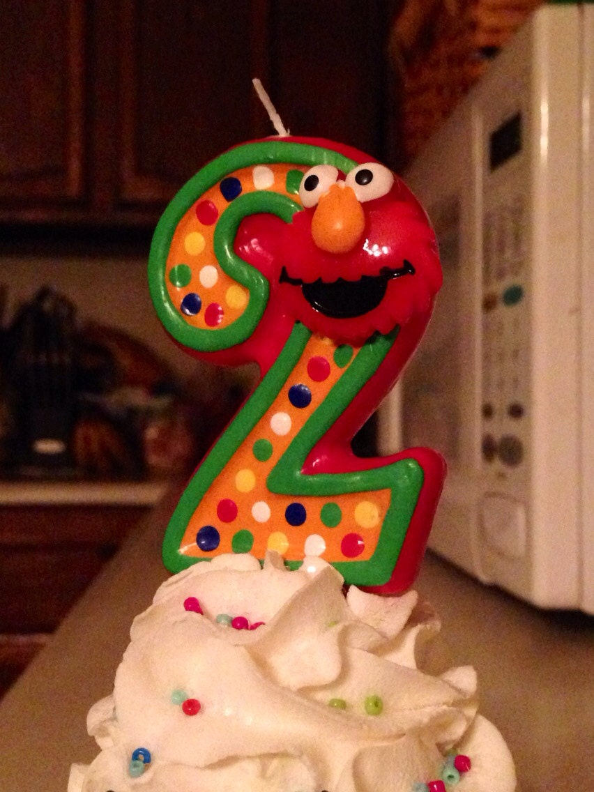 3 Inch Tall Elmo Birthday Candle Any Number Or Colors