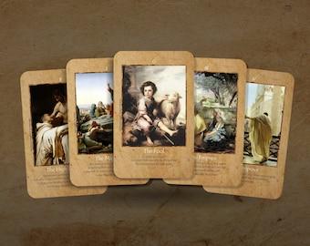 Tarot Card Set for use in Dollhouse Miniature 1 Inch Scale Major Arcana Fairy