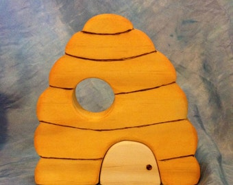 Waldorf Wooden Toy Beehive, natural toy, natural play, nature table, forest play