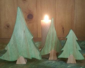 Set of 3 Evergreen trees