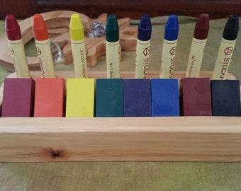 Wooden Crayon Holder Waldorf Steiner