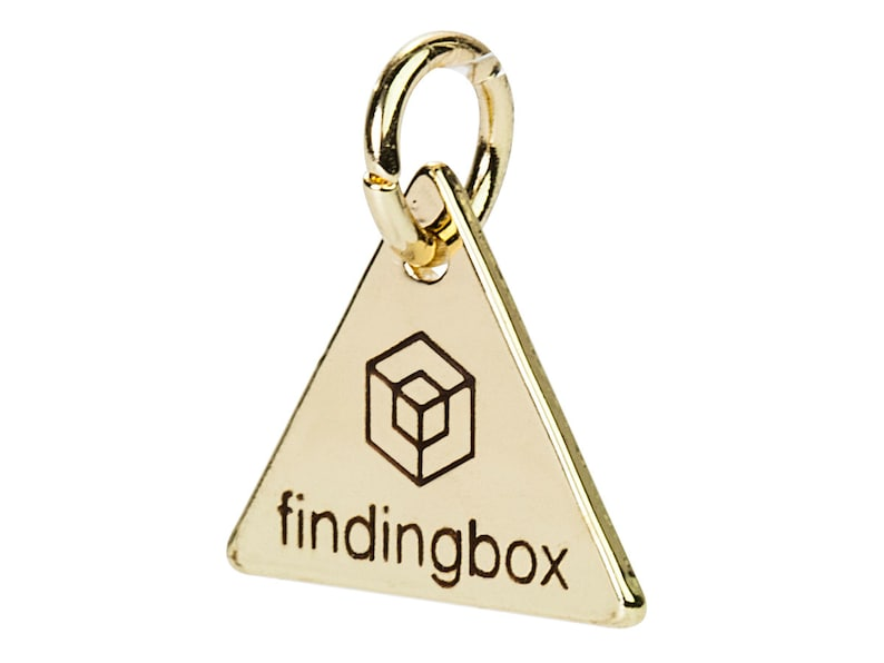 19 Gauge 15x15mm Pkg of 50100 PCS Gold Triangle Jewelry Tag Laser Engraved Logo on Triangle Tags Sequins F14N.GO01.C