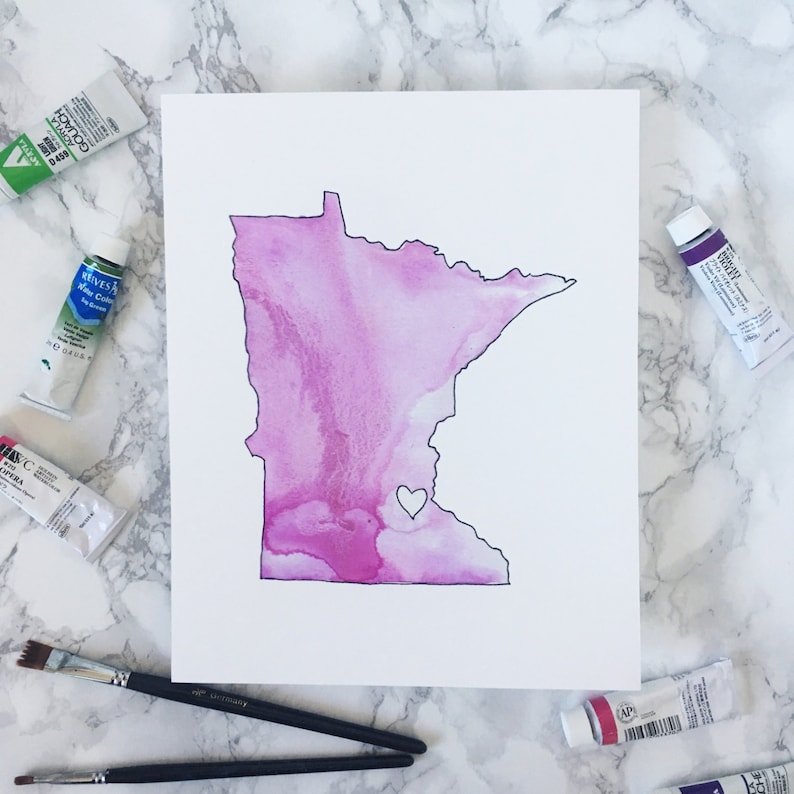 SALE Minnesota in Pink  Print image 0