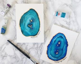 Watercolor Agate Slice