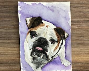 """5x7"""" Watercolor Pet Portrait -Single Pet"""