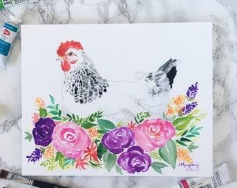 Farmhouse Collection - Hen Print
