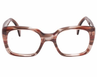 fdd2725bc152 Metzler vintage 60s iconic big thick squared havana celluloid eyeglasses  hand made in Germany