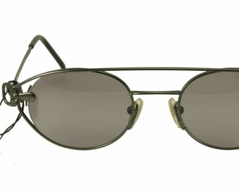 3fa5419cd4a Yohji Yamamoto 52 4109 Vintage NOS hype steampunk oval gunmetal sunglasses  hand made in Japan