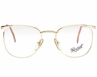 d363e7bfe4b Persol Ratti Alya elegant madmen - preppy style golden squared metal  eyeglasses frames hand made in Italy