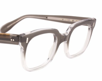 90a997a3ed Fred iconic geeky - rockabilly retro squared bicolour horn rimmed eyeglasses  frames hand made in Germany in the 1950s - 60s