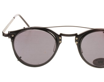 5e8c345bfb Round clip on sunglasses in pure Oliver Peoples MP2 style by Incognito  eyewear