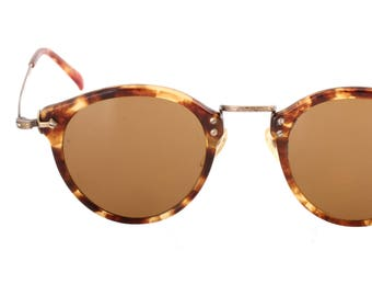 dfc88c3e49a Oliver Peoples 505 382 AG vintage 80s round great Gatsby sunglasses with  crystal lenses