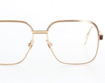 857b8ceeba3 Neostyle haute couture Boutique 510 80s oversized square aviator eyeglasses  silver frames w  real leather details made in Germany NOS 1980s