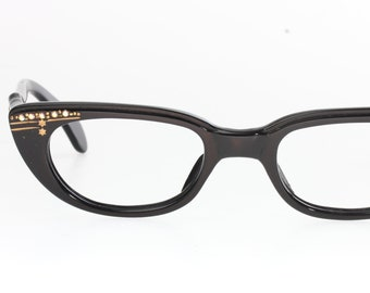 a163a2432cc2 Authentic vintage 50s cateye pin-up eyeglasses