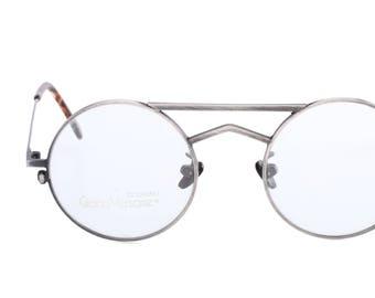 9a622c76c4d9 Gianni Versace mod. 540 vintage round double bridge gunmetal sunglasses  made in Italy