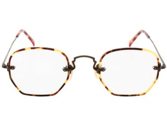 a5272db3d1c Oliver Peoples OP vintage new old stock tortoise brass eyeglasses frames  hand made in Japan