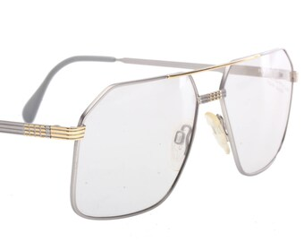 5b579970685 Neostyle haute couture Office 44 classy squared silver   gold aviator eyeglasses  frames made in Germany