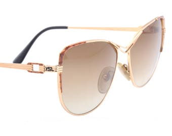 c3e7a4ba8d Yves Saint Laurent YSL Thethys vintage ladies oversized cateye sunglasses  made in France