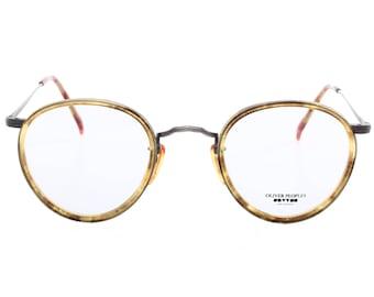48b124cfeefb6 Oliver Peoples MP2 vintage 80s neoclassic - decò round eyeglasses frames  hand made in Japan