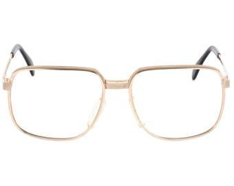 8439b83be5 1970s Metzler 7810 square gold glasses
