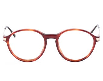a4bf8fe030f Sferoflex vintage round tortoise demi blonde - amber p3 keyhole pantos  eyeglasses frames hand made in Italy