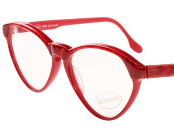 19ba44dfee Missoni red cateye eyeglasses frames with real knitted fabric inlaid into  the browline and temples