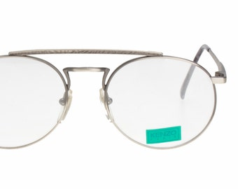 aab1abf1cad Kenzo outstanding adorned round designer eyeglasses frames hand made in  France in the 1980s