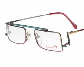 c145f3bbd37 Casanova C-02 RVC3 vintage avant garde flat top multicolour squared -  rectangular eyeglasses frames