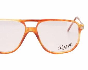 afa871aece Persol Ratti 9100-B vintage Persol gold edition demi blonde - honey havana    gold double bridge aviator eyeglasses frames